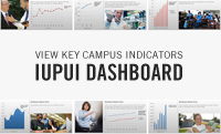View key performance indicators in the IUPUI Dashboard