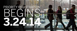 Priority Registration for Fall 2014 starts March 24