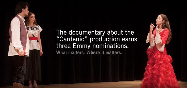 Documentary about IUPUI �Cardenio� production earns three Emmy nominations