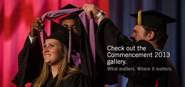 Check out IUPUI's Commencement 2013 gallery.