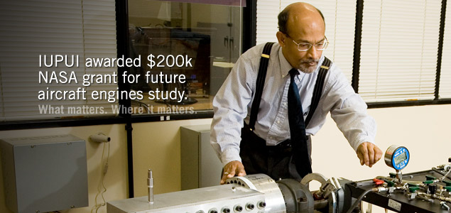 IUPUI awarded $200,000 NASA grant for future aircraft engines study