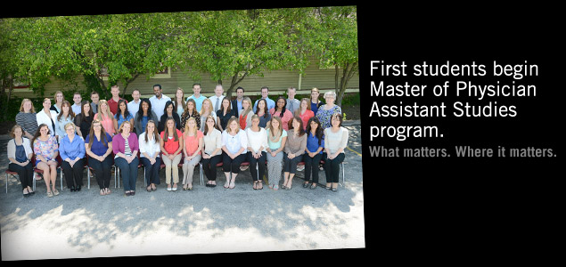 First students begin Master of Physician Assistant Studies program at IUPUI.