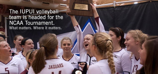 The IUPUI volleyball team is heading for the NCAA Tournament.