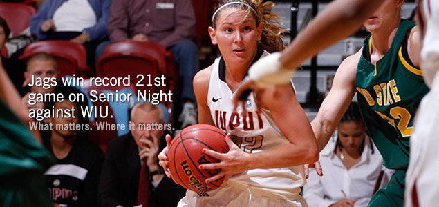 Jags win record 21st game on Senior Night against WIU.