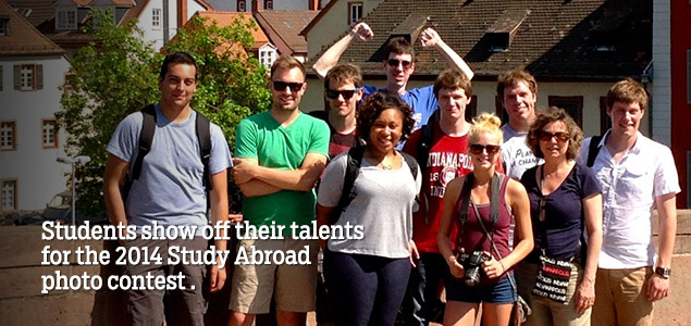 Students show off their talents for the 2014 Study Abroad photo contest.