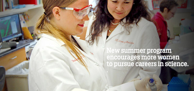 New summer program encourages more women to pursue careers in science.