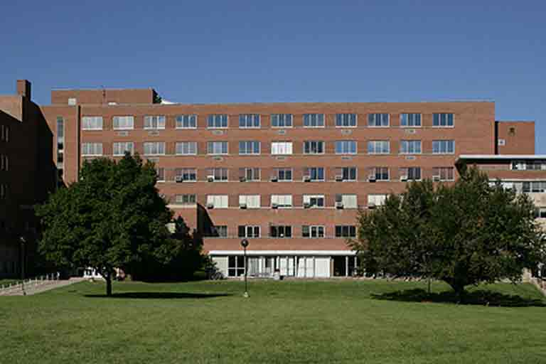 Exterior of the original Student Union Building