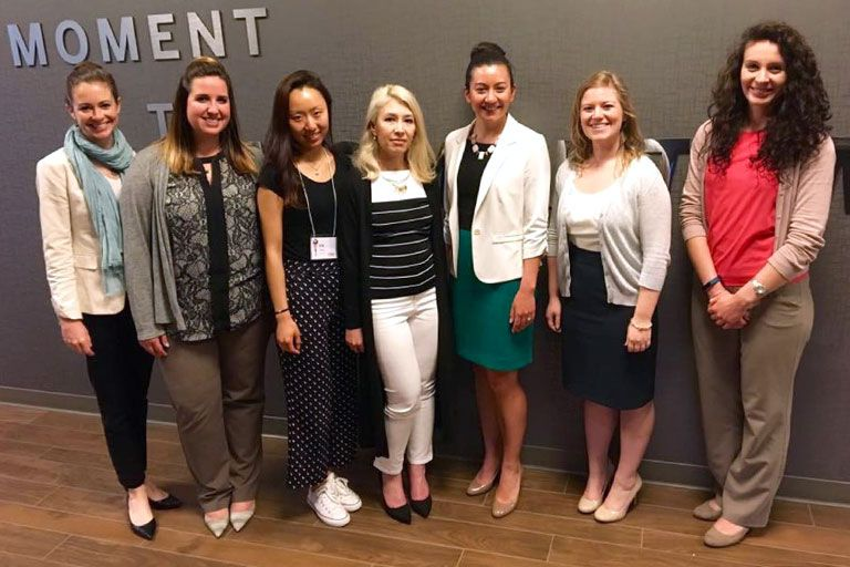 Group of female Kelley Evening MBA students.