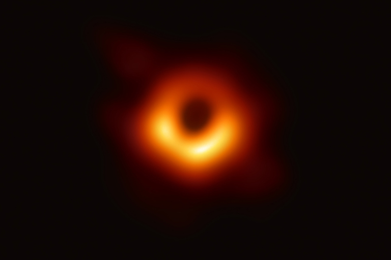 A black hole in space