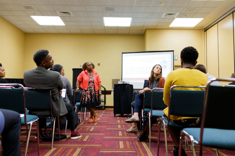 School of Education at IUPUI receives grant to train 300 Indiana schools in cultural competency. Diversity of students sit in classroom.