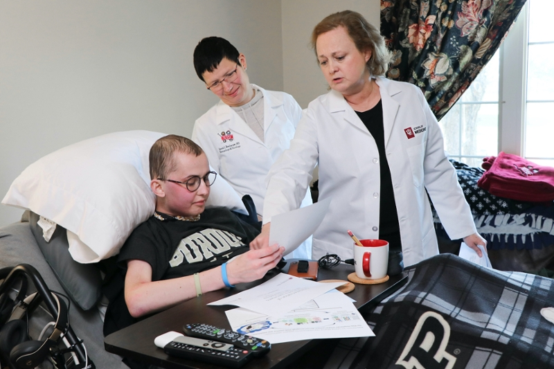 Tyler Trent being treated by IU School of Medicine doctors and researchers.