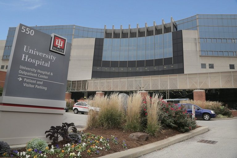 IU Health University Hospital building